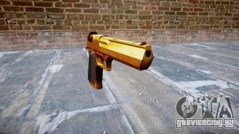 Пистолет IMI Desert Eagle Mk XIX Gold для GTA 4