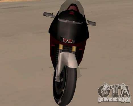 NRG-500 Winged Edition V.1 для GTA San Andreas вид изнутри
