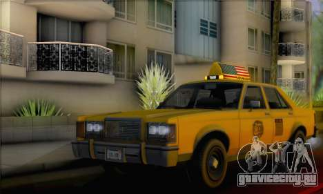 Willard Marbelle Taxi Saints Row Style для GTA San Andreas
