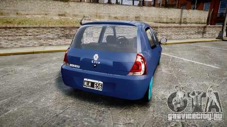 Renault Clio Mio 2014 для GTA 4 вид сзади слева
