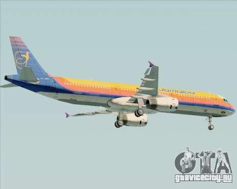 Airbus A321-200 Air Jamaica для GTA San Andreas вид снизу