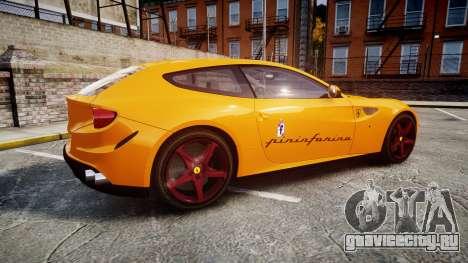 Ferrari FF 2012 Pininfarina Yellow для GTA 4 вид слева