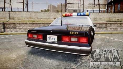 Chevrolet Impala 1985 LAPD [ELS] для GTA 4 вид сзади слева