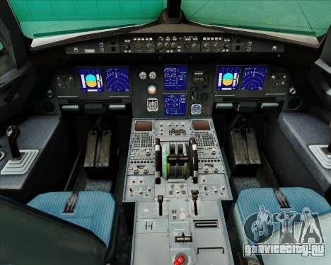 Airbus A321-200 Swiss International Air Lines для GTA San Andreas салон