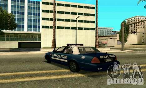 FCPD Ford Crown Victoria для GTA San Andreas вид слева