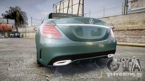 Mercedes-Benz C250 для GTA 4 вид сзади слева