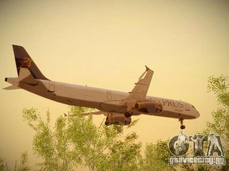 Airbus A321-232 Cyprus Airways для GTA San Andreas вид изнутри