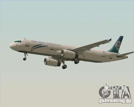 Airbus A321-200 Air New Zealand для GTA San Andreas вид сбоку