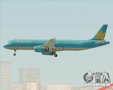 Airbus A321-200 Vietnam Airlines для GTA San Andreas двигатель