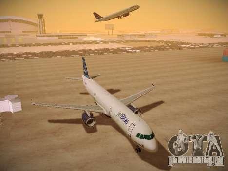 Airbus A321-232 jetBlue Airways для GTA San Andreas вид изнутри
