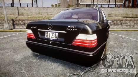 Mercedes-Benz E500 1998 Tuned Wheel Gold для GTA 4 вид сзади слева