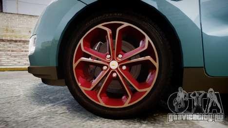 Chevrolet Volt 2011 v1.01 rims2 для GTA 4 вид сзади