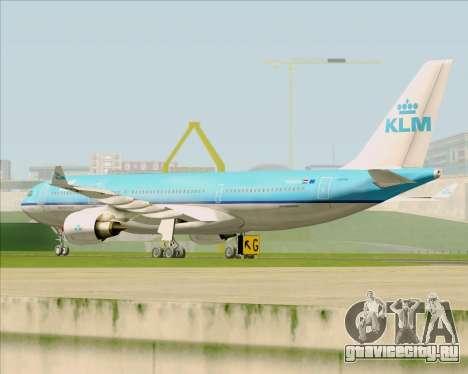 Airbus A330-200 KLM - Royal Dutch Airlines для GTA San Andreas вид сзади
