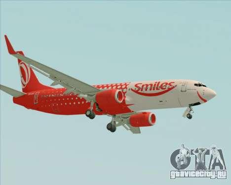 Boeing 737-800 Gol Transportes Aéreos для GTA San Andreas вид сзади