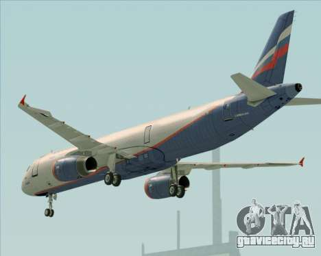 Airbus A321-200 Aeroflot - Russian Airlines для GTA San Andreas двигатель