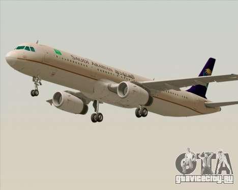 Airbus A321-200 Saudi Arabian Airlines для GTA San Andreas вид слева