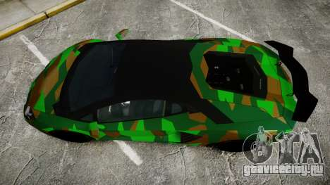 Lamborghini Aventador LP760-4 Camo Edition для GTA 4 вид справа