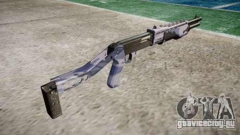Ружьё Franchi SPAS-12 Blue Tiger для GTA 4 второй скриншот