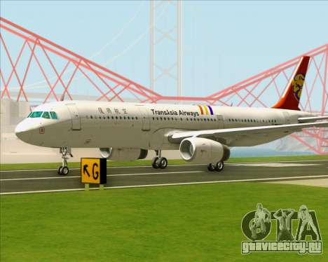 Airbus A321-200 TransAsia Airways для GTA San Andreas вид сверху