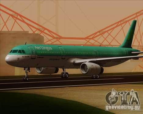 Airbus A321-200 Aer Lingus для GTA San Andreas вид слева