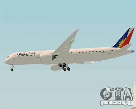 Airbus A350-900 Philippine Airlines для GTA San Andreas вид снизу