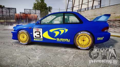 Subaru Impreza WRC 1998 Rally v2.0 Yellow для GTA 4 вид слева