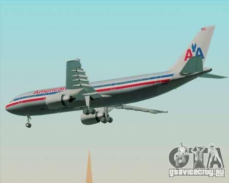 Airbus A300-600 American Airlines для GTA San Andreas вид сзади