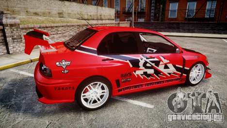 Mitsubishi Lancer Evolution IX Fast and Furious для GTA 4 вид слева