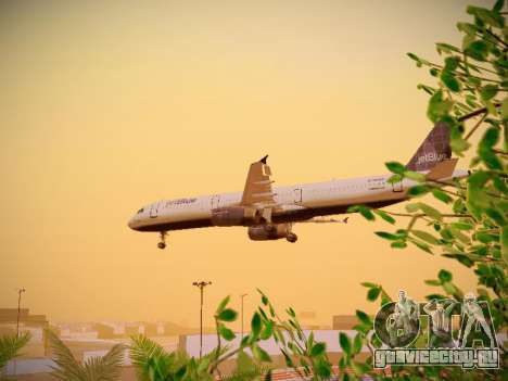 Airbus A321-232 jetBlue Batty Blue для GTA San Andreas вид сбоку