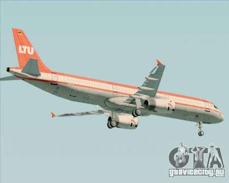 Airbus A321-200 LTU International для GTA San Andreas вид снизу