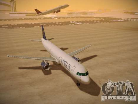 Airbus A321-232 Cyprus Airways для GTA San Andreas вид сзади