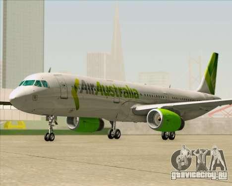 Airbus A321-200 Air Australia для GTA San Andreas вид снизу