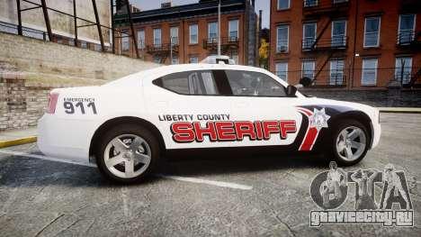 Dodge Charger 2010 LC Sheriff [ELS] для GTA 4 вид слева