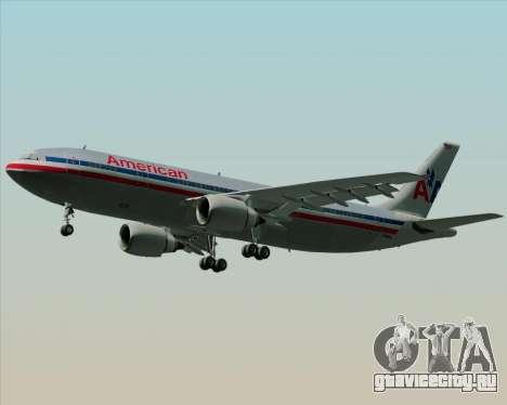 Airbus A300-600 American Airlines для GTA San Andreas вид сбоку