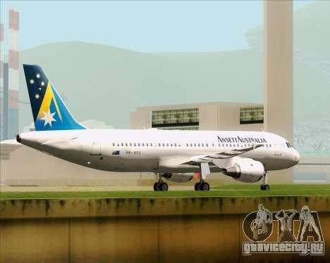 Airbus A320-200 Ansett Australia для GTA San Andreas вид снизу