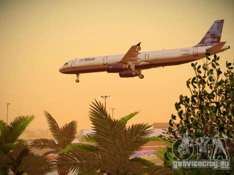 Airbus A321-232 jetBlue Do-be-do-be-blue для GTA San Andreas салон