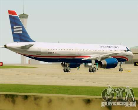 Airbus A321-200 US Airways для GTA San Andreas вид снизу