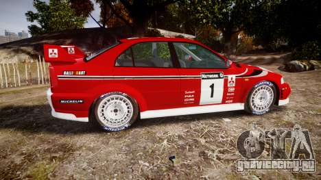 Mitsubishi Lancer Evolution VI Rally Marlboro для GTA 4 вид слева