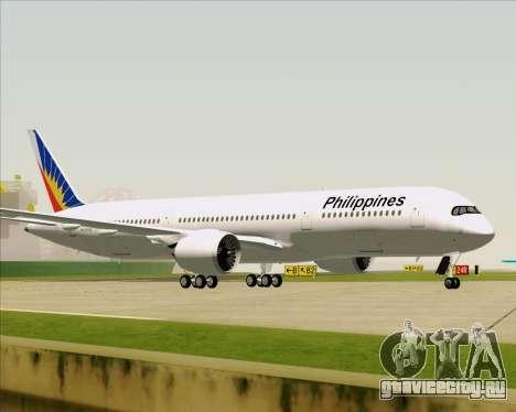 Airbus A350-900 Philippine Airlines для GTA San Andreas вид сбоку