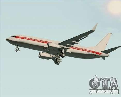 Boeing 737-800 EG&G - Janet для GTA San Andreas вид сзади слева