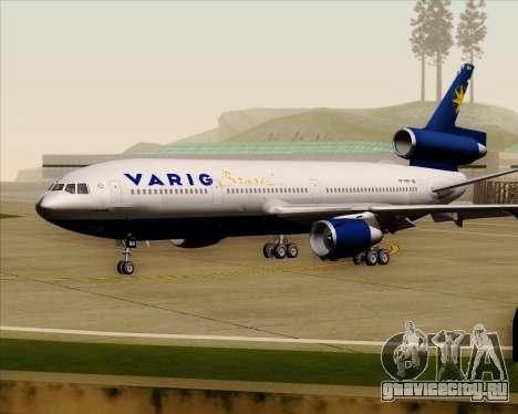 McDonnell Douglas DC-10-30 VARIG для GTA San Andreas вид слева