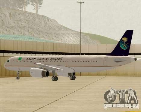 Airbus A321-200 Saudi Arabian Airlines для GTA San Andreas колёса