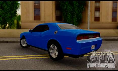 Dodge Challenger SXT Plus 2013 для GTA San Andreas вид слева