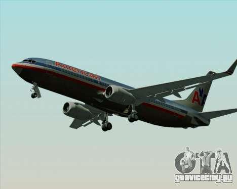 Boeing 737-800 American Airlines для GTA San Andreas вид изнутри