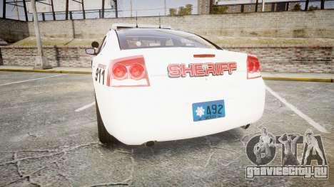 Dodge Charger 2010 LC Sheriff [ELS] для GTA 4 вид сзади слева