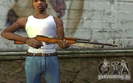 СКС (Battlefield: Vietnam) для GTA San Andreas третий скриншот