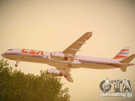 Airbus A321-232 Czech Airlines для GTA San Andreas вид справа