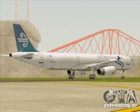 Airbus A321-200 Air New Zealand для GTA San Andreas вид сверху