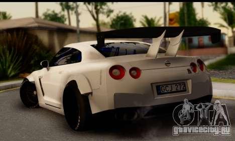 Nissan GTR Tuning для GTA San Andreas вид слева