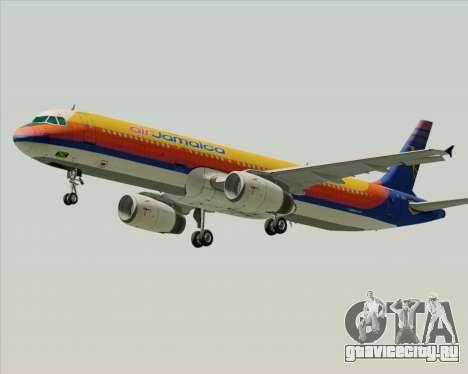 Airbus A321-200 Air Jamaica для GTA San Andreas вид изнутри